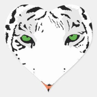 Adesivo Coração Tigre feito sob encomenda personalizado da neve