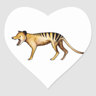 Adesivo Coração Tigre tasmaniano, Thylacine