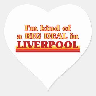 Adesivo Coração Tipo de I´m de uma grande coisa em Liverpool