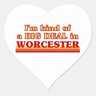 Adesivo Coração Tipo de I´m de uma grande coisa em Worcester