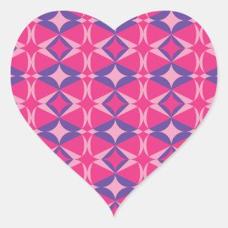 Adesivo Coração toalha fluorescente da mesa