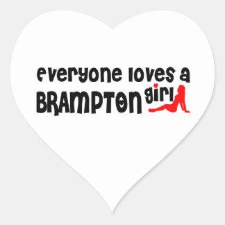Adesivo Coração Todos ama uma menina de Brampton