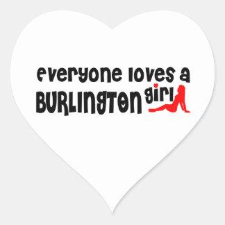 Adesivo Coração Todos ama uma menina de Burlington
