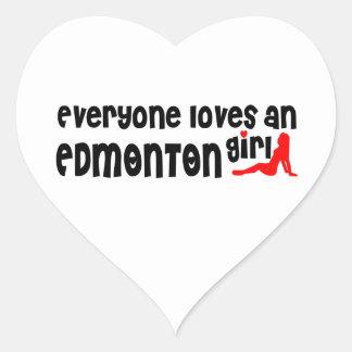 Adesivo Coração Todos ama uma menina de Edmonton