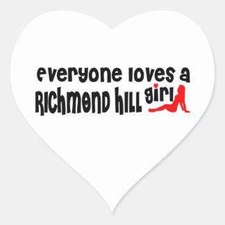 Adesivo Coração Todos ama uma menina de Richmond
