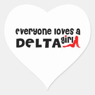 Adesivo Coração Todos ama uma menina do delta