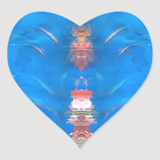 Adesivo Coração torre