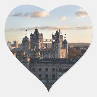 Adesivo Coração Torre de Londres