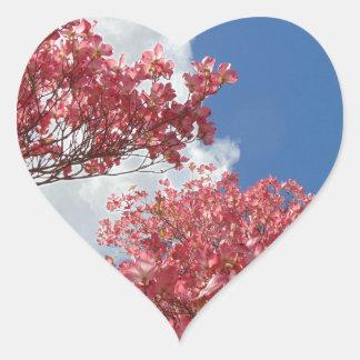Adesivo Coração Torrente das flores