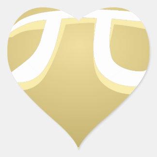 Adesivo Coração torta feliz do dia do pi