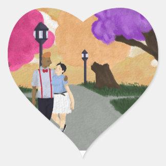 Adesivo Coração Tour romântico
