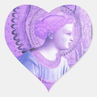 Adesivo Coração Trabalhos de arte do anjo do vintage
