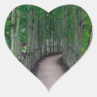 Adesivo Coração Trajeto do parque