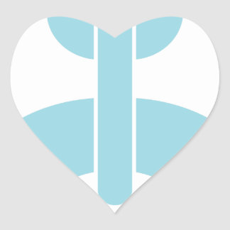 Adesivo Coração Trave a corrente de N