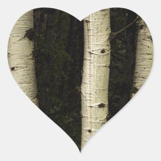 Adesivo Coração Três colunas da floresta