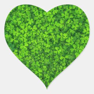 Adesivo Coração Trevo do dia de St Patrick