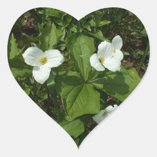 Adesivo Coração Trillium branco