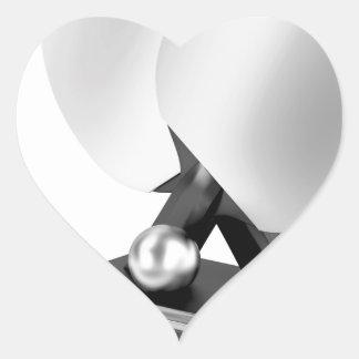 Adesivo Coração Troféu de prata do ténis de mesa