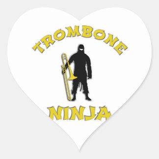 Adesivo Coração Trombone Ninja