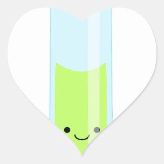 Adesivo Coração Tubo de ensaio Geeky do kawaii
