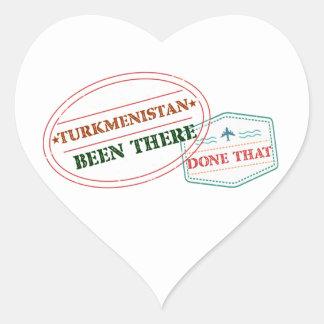 Adesivo Coração Turkmenistan feito lá isso