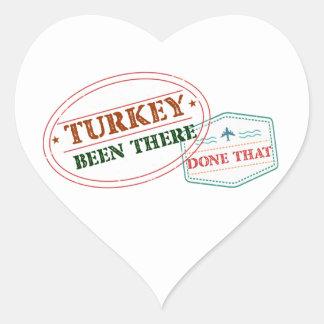 Adesivo Coração Turquia feito lá isso