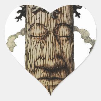 Adesivo Coração Uma capa poderosa da árvore