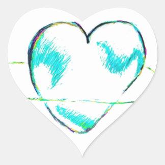 Adesivo Coração Uma cooperação da piedade pela luminosidade