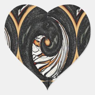 Adesivo Coração Uma fatia de laranja