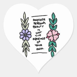 Adesivo Coração Uma outra beleza das pessoas
