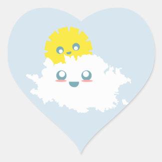Adesivo Coração Uma parte de Lil de céu