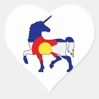 Adesivo Coração Unicórnios e Colorado!