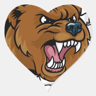 Adesivo Coração Urso que guardara a bola de boliche que quebra o