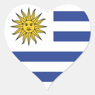 Adesivo Coração Uruguai
