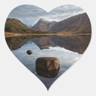 Adesivo Coração Vale Etive, Glencoe Scotland