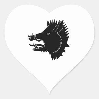 Adesivo Coração Varrões R nós