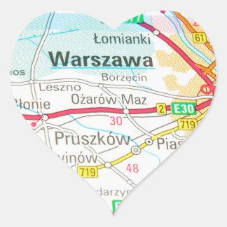 Adesivo Coração Varsóvia, Varsóvia no Polônia