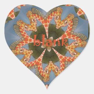 Adesivo Coração Vazio colorido africano surpreendente bonito do