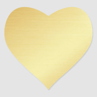 Adesivo Coração Vazio elegante selos Coração-Dados forma do ouro