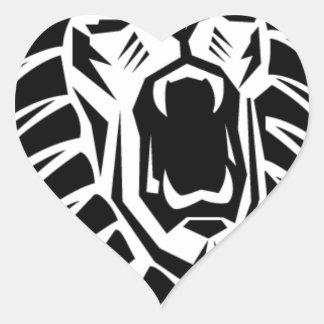 Adesivo Coração vecto principal do leão