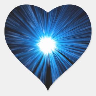 Adesivo Coração Velocidade abstrata da urdidura