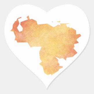 Adesivo Coração Venezuela