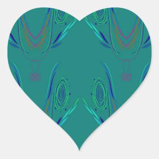 Adesivo Coração Verde do nordic dos elementos do design