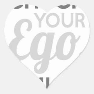 Adesivo Coração Verifique seu amigo do ego