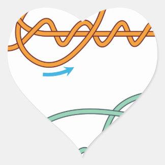 Adesivo Coração Versão de duas cores melhorada do diagrama do nó