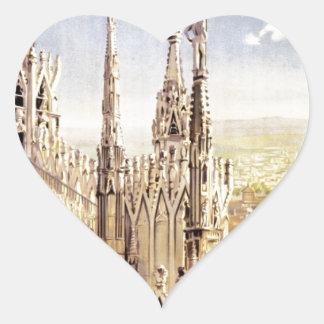 Adesivo Coração Viagem de Palermo do vintage