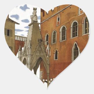 Adesivo Coração Viagem de Verona do vintage
