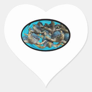 Adesivo Coração Viagem pelo mar
