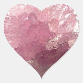 Adesivo Coração Viajantes da felicidade de quartzo cor-de-rosa