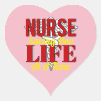 Adesivo Coração Vida da enfermeira
